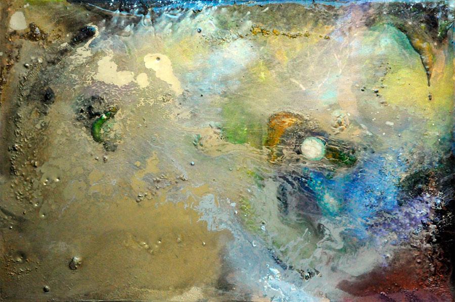 Supersensible holonomic transcendental holoflux consciousness implicate order painting by Shelli Joye