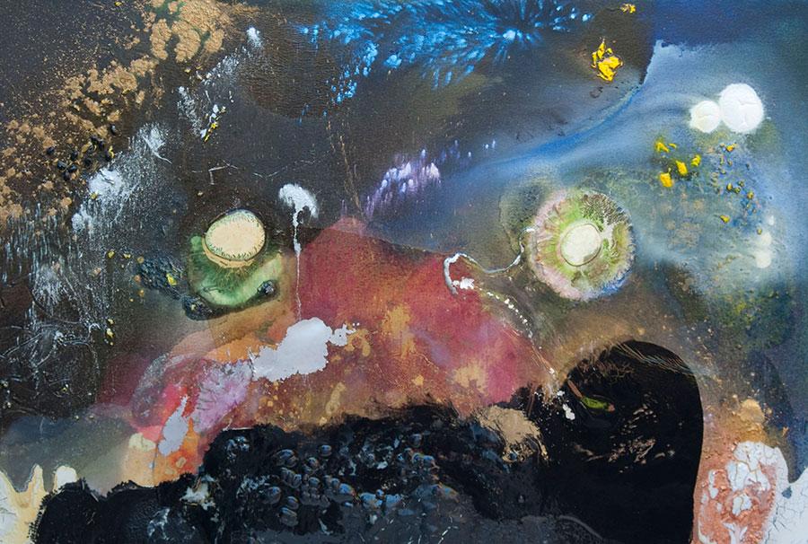 Shelli Joye painting holoflux holonomic flow